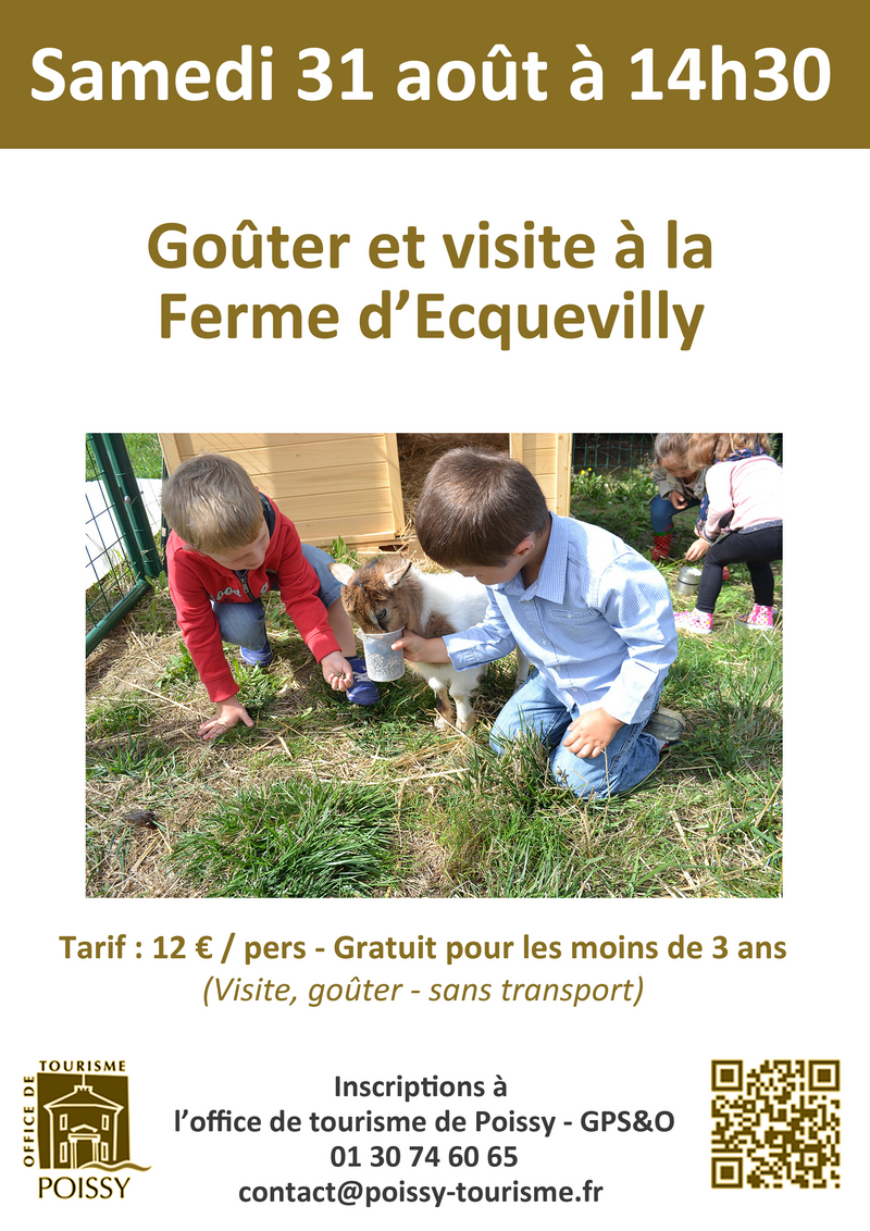 Ferme d'Ecquevilly © 2019 Office de tourisme de Poissy GPS&O