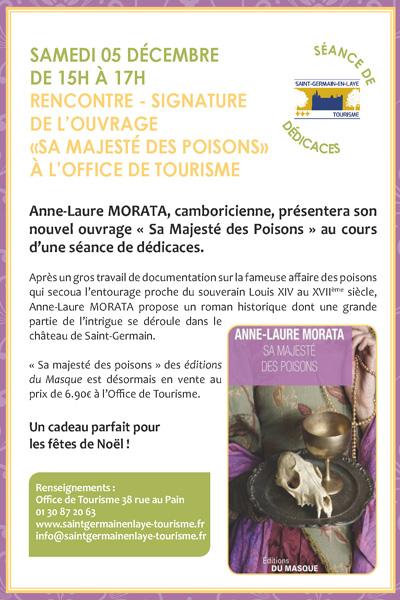 D dicaces anne laure morata saint germain en laye - Office du tourisme saint germain en laye ...