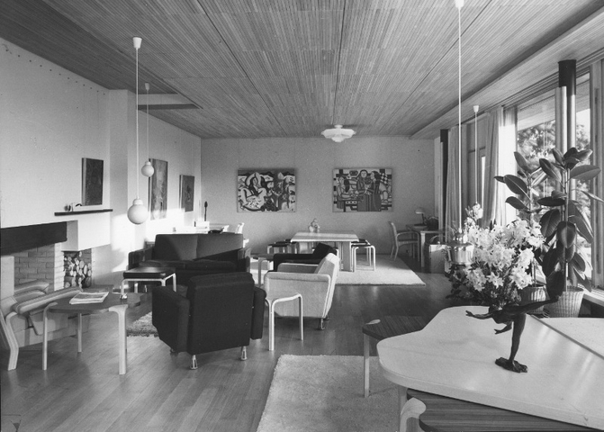 Salon de la Maison Louis Carré en 1960